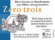 Beer bottle label Zero Trois